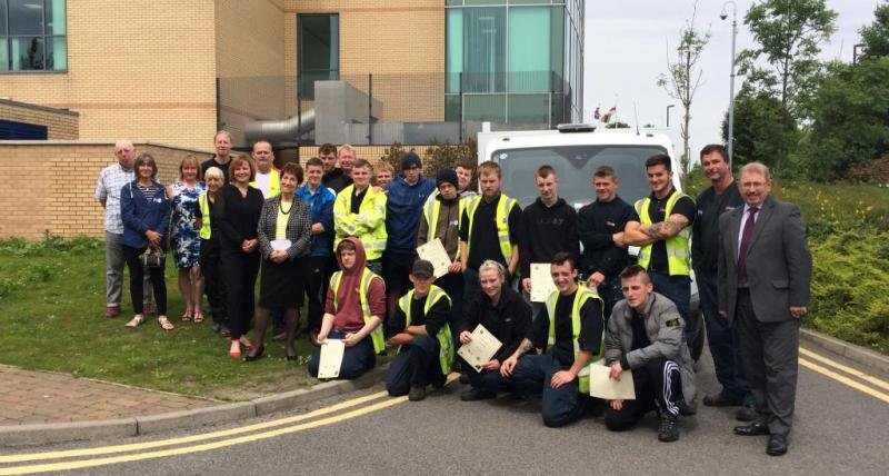 Trainees supported by North Tyneside Council